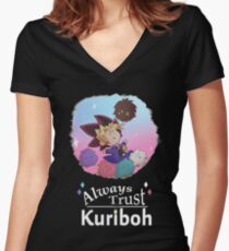 Always Trust In Kuriboh Women's Fitted V-Neck T-Shirt
