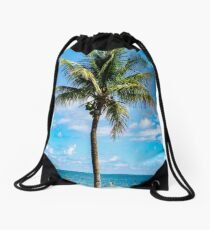 Ocean Palm Drawstring Bag