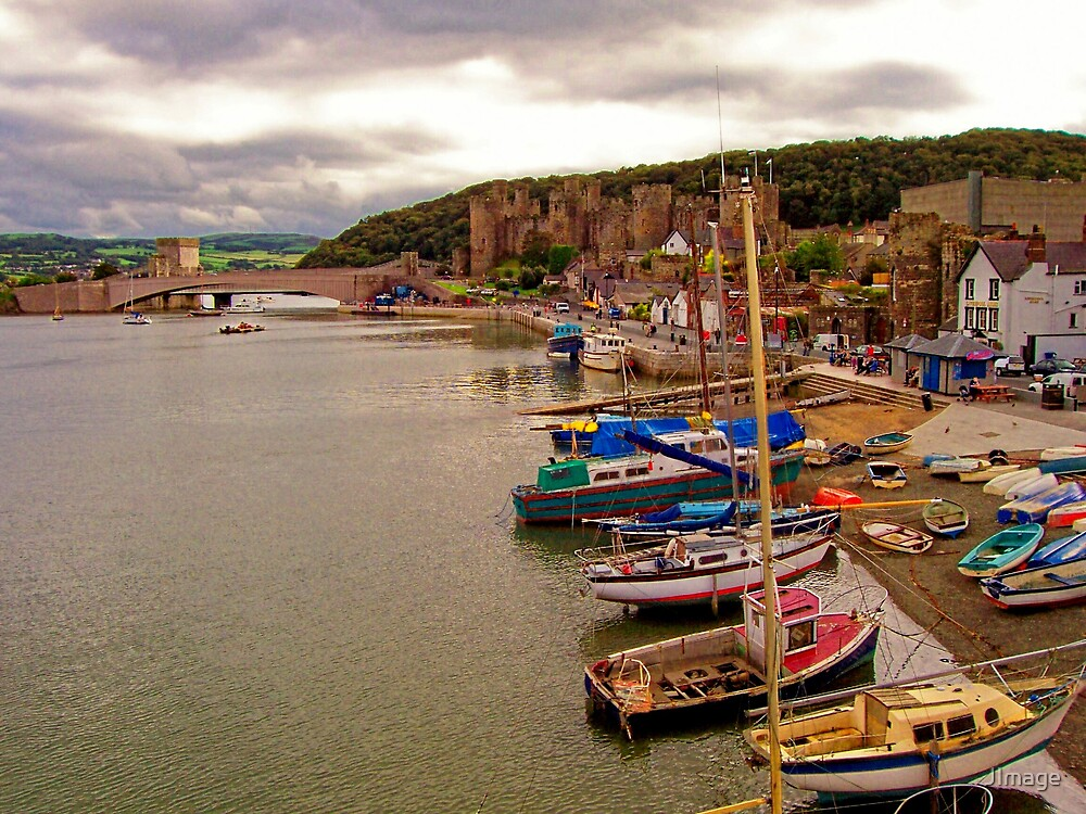 Conwy Harbour and Castle by JImage