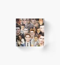 kj apa collage Acrylic Block