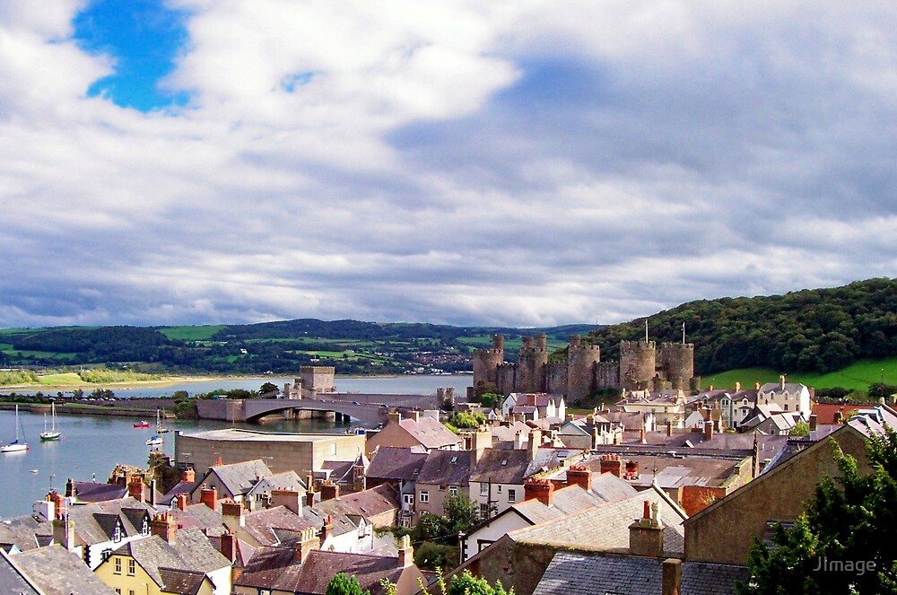 Conwy Rooftops by JImage