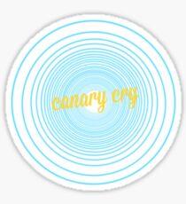 Canary Cry Sticker