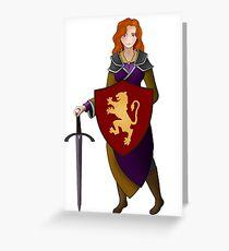 Allana of Trebond Greeting Card