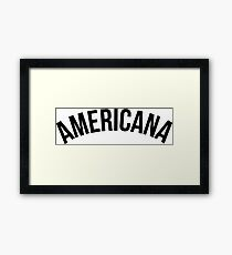 Americana - Brazilian Jiu-Jitsu Framed Print