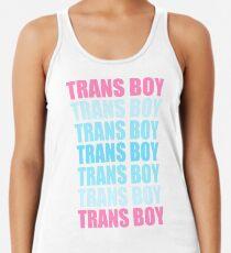 Trans Boy Typografie Racerback Tank Top