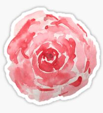 Red Watercolor Flower Sticker