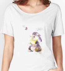 Thumper, Bunny And Butterfly, Watercolor Art Women's Relaxed Fit T-Shirt