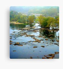 ROCKY LOW WATER JAMES RIVER Canvas Print
