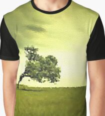 Fractal Scapes - Lone Tree Graphic T-Shirt