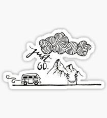 Just Go Mountain Sticker Sticker