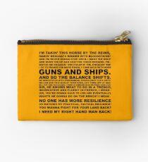 guns, ships Studio Pouch