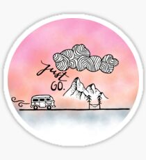 Just Go Mountain Sticker Sticker