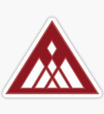 Warlock Crest [Red/White] Sticker