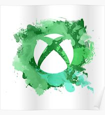 Xbox watercolor Poster