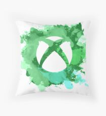 Xbox watercolor Throw Pillow