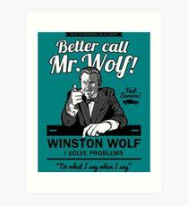 Lámina artística Mejor llamar al Sr. Wolf