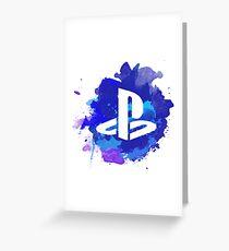 Playstation Watercolor Greeting Card