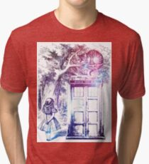 cat phone box-@!& Tri-blend T-Shirt