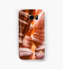Waves of sandstone at Antelope Canyon Samsung Galaxy Case/Skin