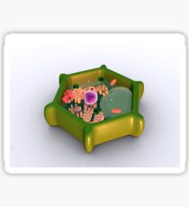 Conceptual image of a plant cell and its components. Sticker