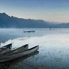 Misty Morning, Lake Tamblingan by Hicksy