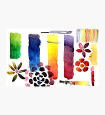 Bright Watercolor Swatch Photographic Print