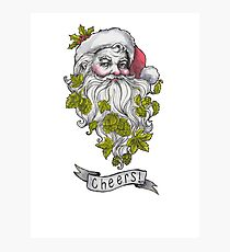 Craft Beer Santa - Cheers! Photographic Print