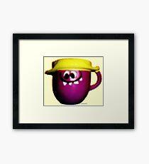 Goofy Grape Framed Print
