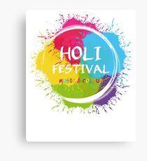 holi - music & Colours - festival of colors - muslim holiday Canvas Print