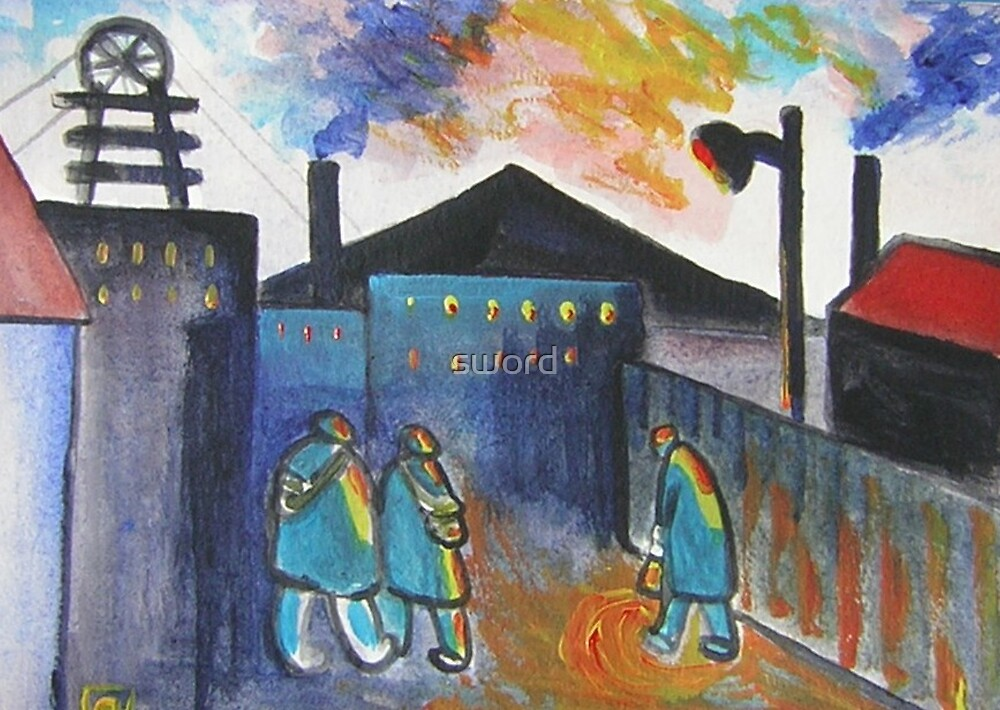 Industry (from my original acrylic painting) by sword