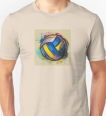 Volleyball blue and yellow T-Shirt
