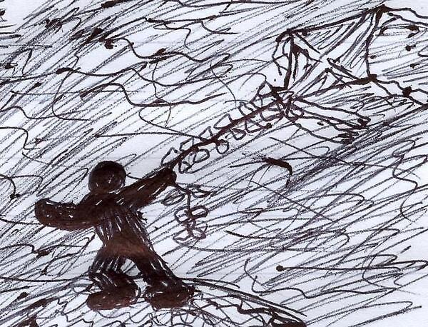Shadowguy flies a kite by crazynighthawk