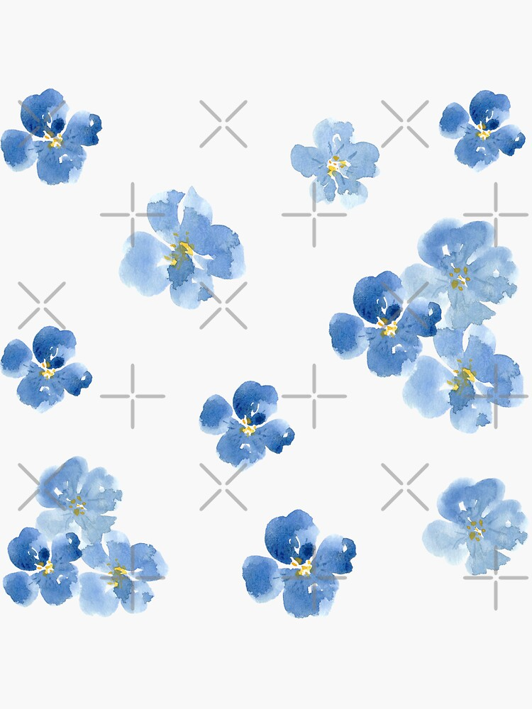 Little Blue Flowers ~ Stickers by ApricotBlossom