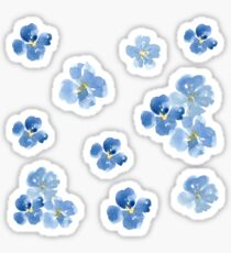 Little Blue Flowers ~ Stickers Sticker