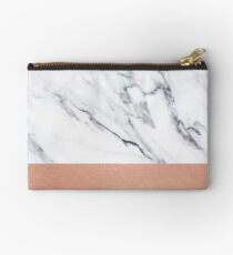 Rose Gold Marble Luxury iPhone Case and Throw Pillow Design Studio Pouch
