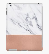 Rose Gold Marble Luxury iPhone Case and Throw Pillow Design iPad Case/Skin
