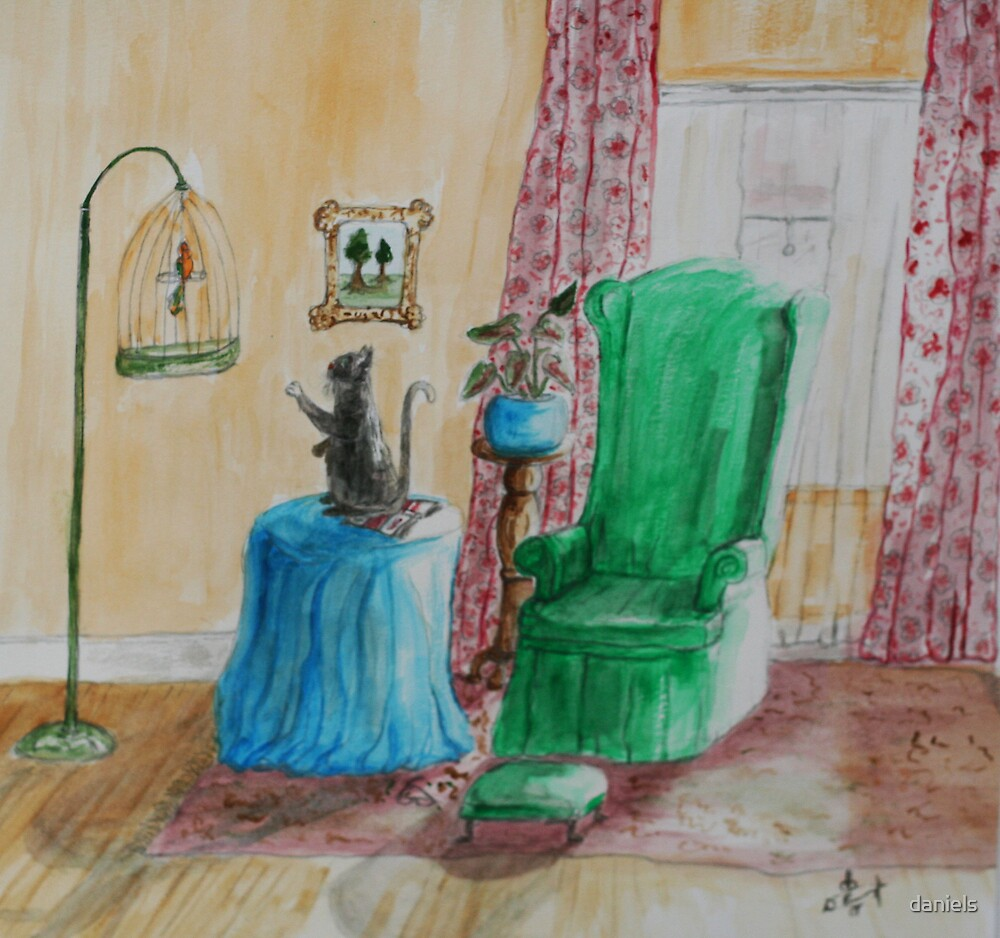 cat and the parakeet_2 by daniels