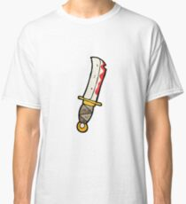 cartoon bloody knife Classic T-Shirt