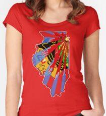 Illinois Blackhawks Women's Fitted Scoop T-Shirt