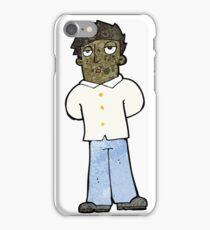 cartoon bored man iPhone Case/Skin