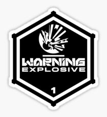 Warning: Explosive Sticker