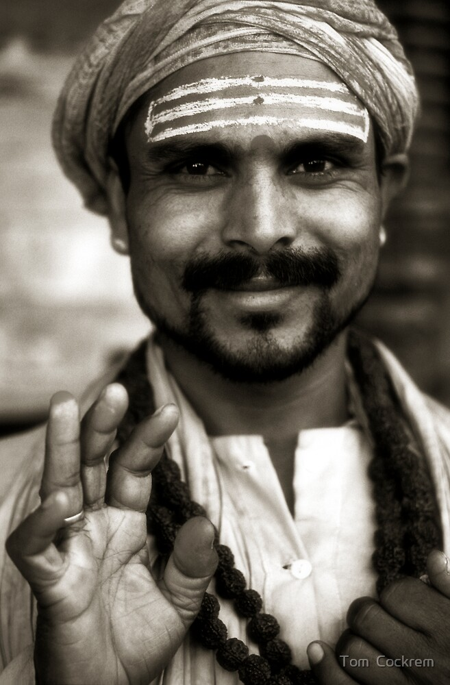 nepalese sadhu by Tom  Cockrem