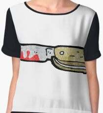 cartoon bloody folding knife Women's Chiffon Top