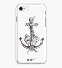 Home II (Anchor, Dagger, Rose, Compass Larry Tattoos) iPhone Case/Skin