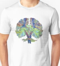 Tractography on white Unisex T-Shirt