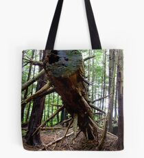 Spiked Tree Trunk, vertical Tote Bag