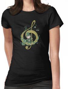 Vintage Leprechaun Making Music - St Patricks Day 2017 Womens Fitted T-Shirt