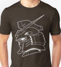 Gundam Deathscythe Profile Outline White Unisex T-Shirt
