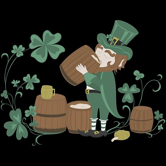Pósters «Leprechaun borracho - St Patricks Day 2017 - Vintage ...