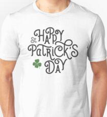 Typographic irish – happy st patricks day 2017 – hand lettering T-Shirt